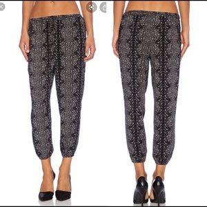 Joie Soft Janus Pants in Caviar black grey joggers